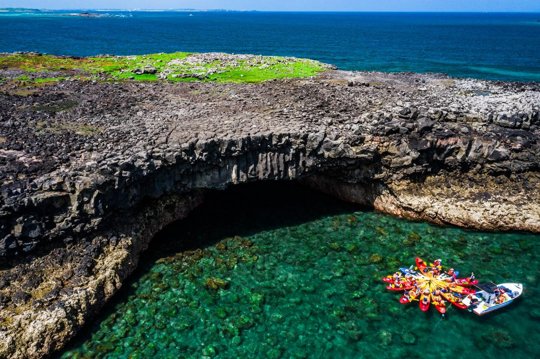 當我們住在一個無人島DAY2,北鐵砧嶼海蝕洞。