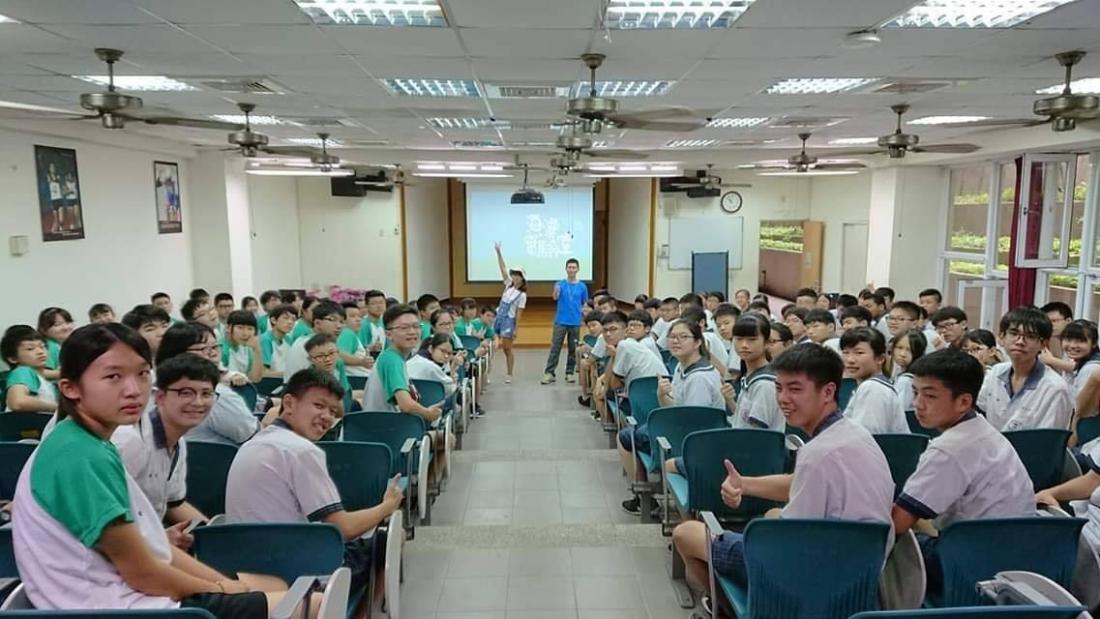 環境教育講座,國三生大合照。