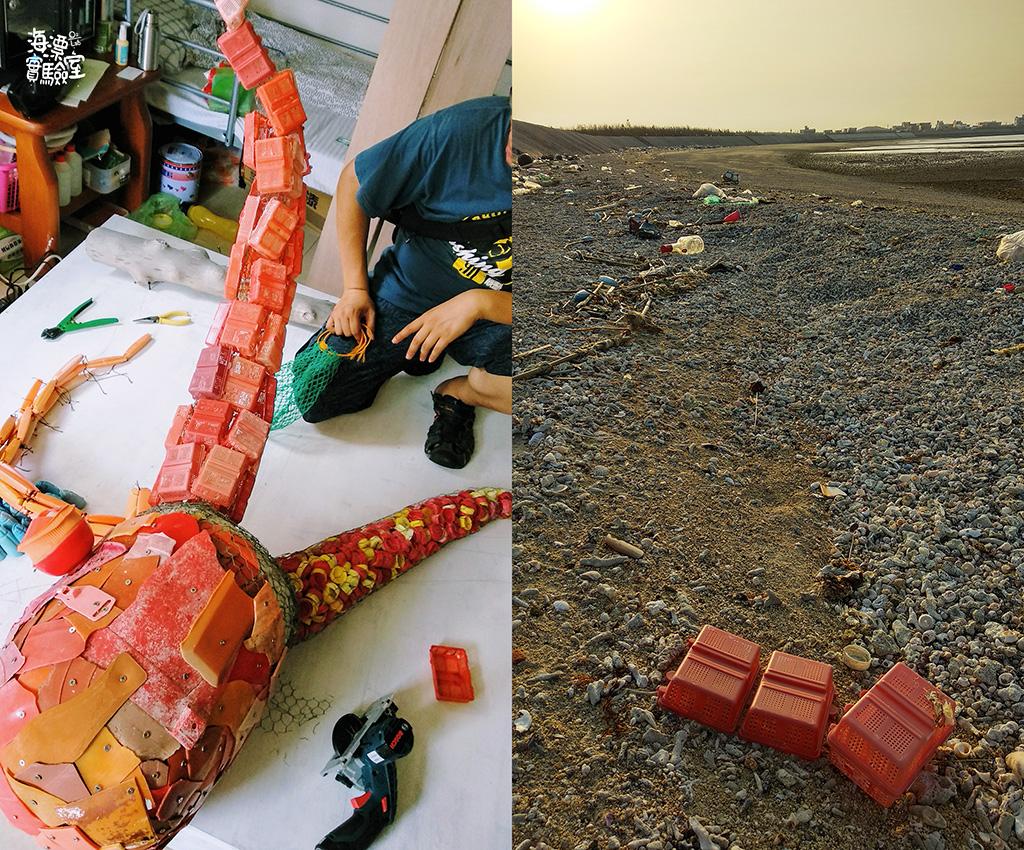 八隻腳之二 : 蟹餌盒 海邊常見的紅色