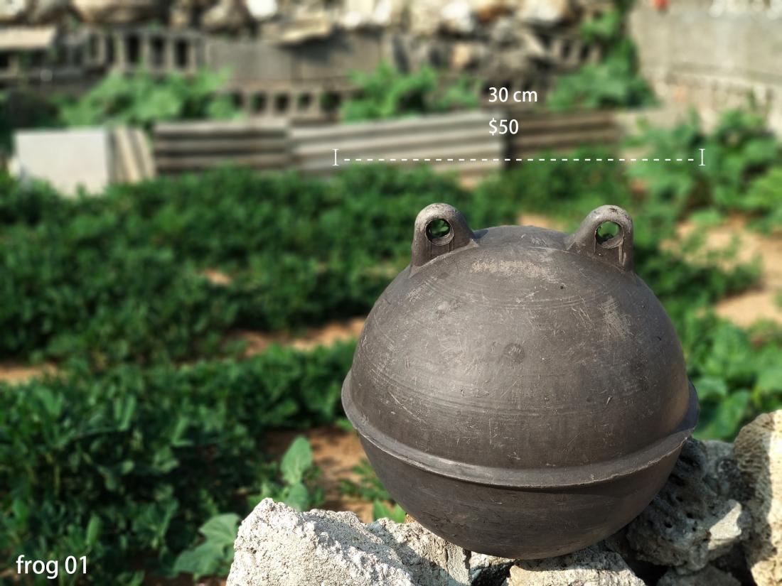 黑色青蛙浮球,直徑約30cm,單價$50