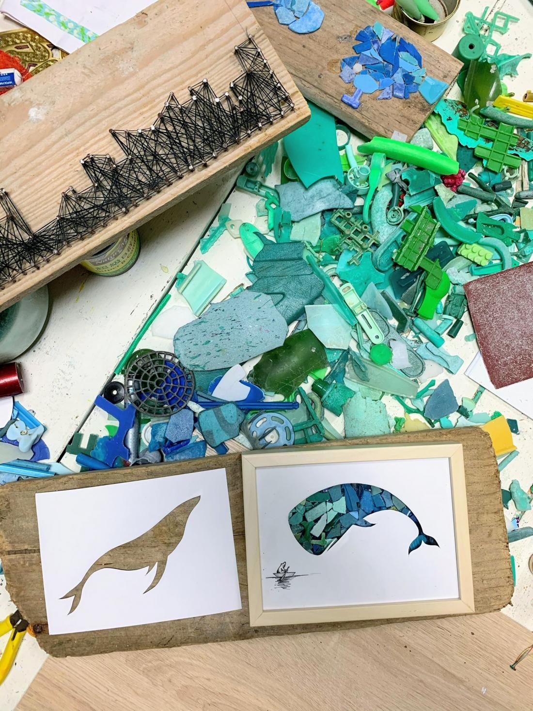 你知道大海裡最多顏色的塑膠碎片是哪一色嗎