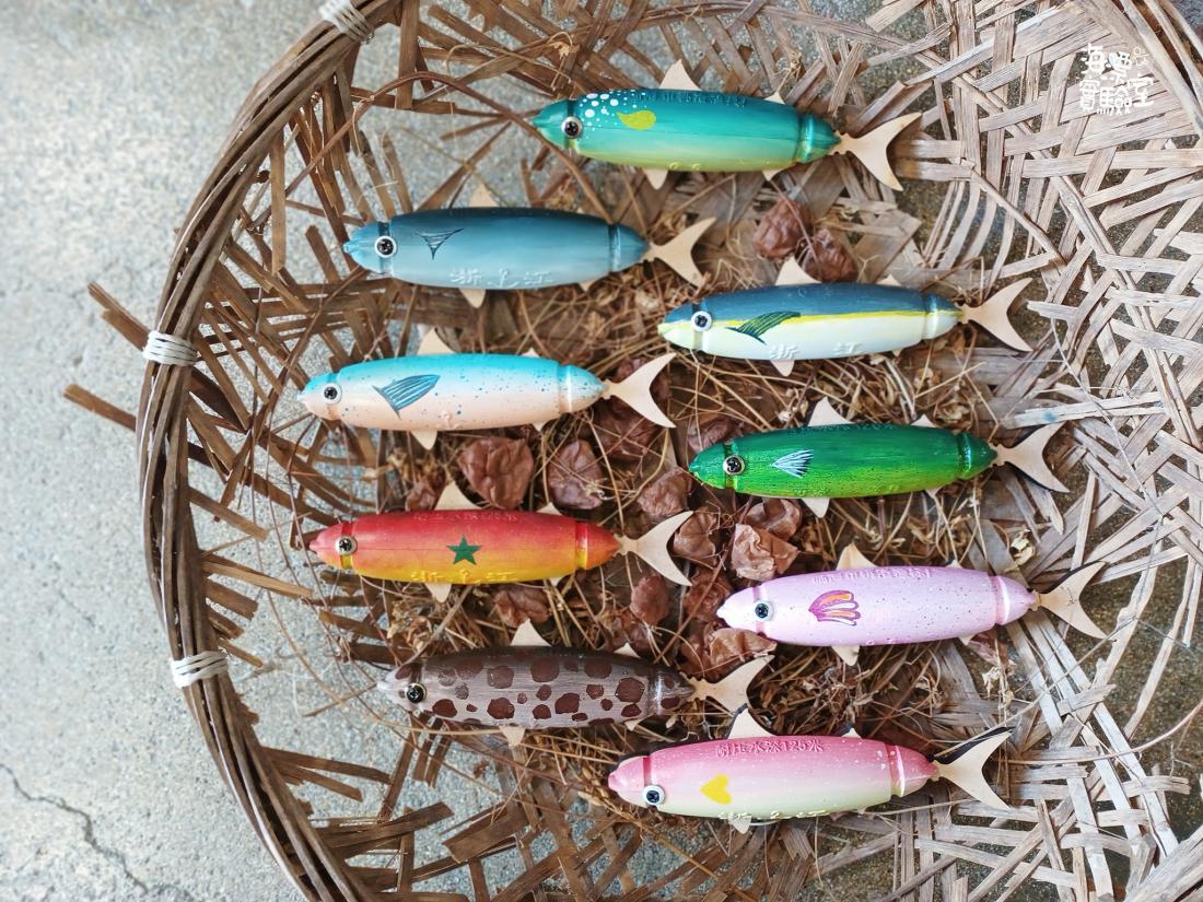 海漂魚磁鐵目前共有9款 ,編號01-09。